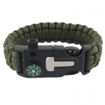 Military Paracord Survival Bracelet With Compass