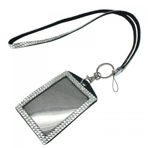 Rhinestone Lanyard With ID Badge Holder