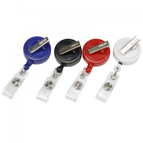 reel badge holders with alligator clip
