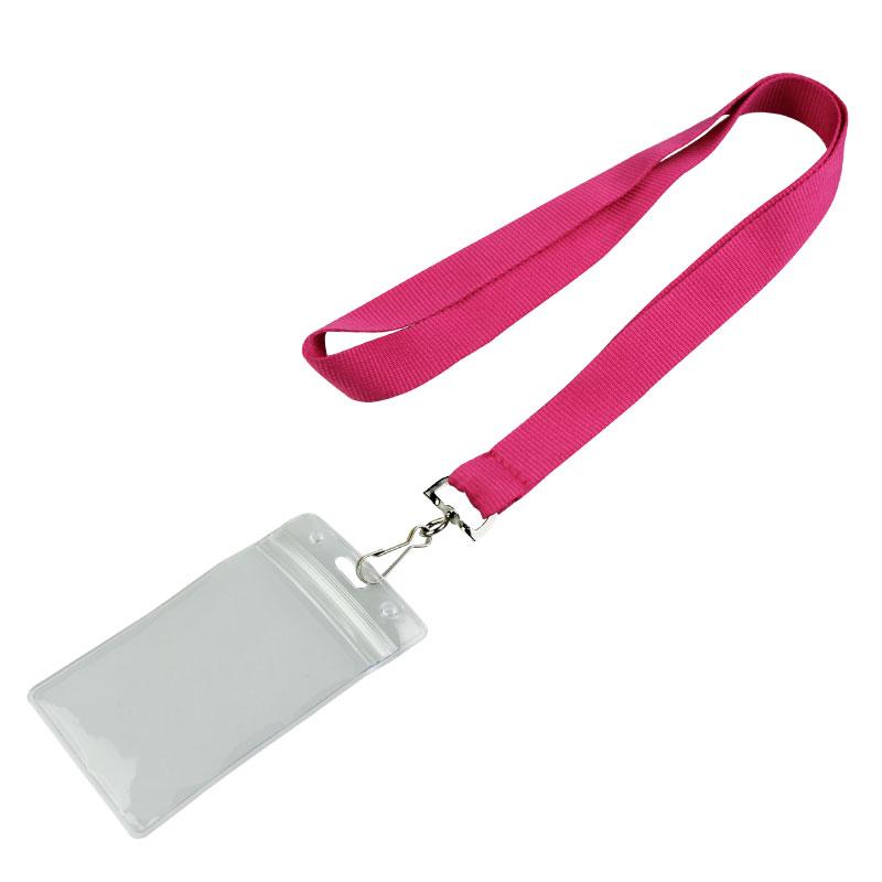 Cheap Customizable Hot Pink Blank Lanyards