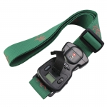 polyester tsa lock luggage strap belt with weighing scale
