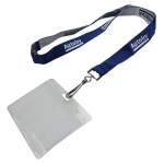 Breakaway Safety Clip Woven Lanyard And ID Holder