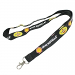 Black Name Brand Keychain Lanyard With Clip