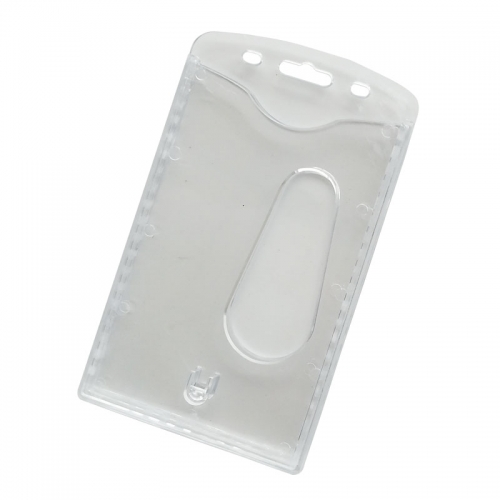 Hard Clear Plastic Card Holders For Lanyards