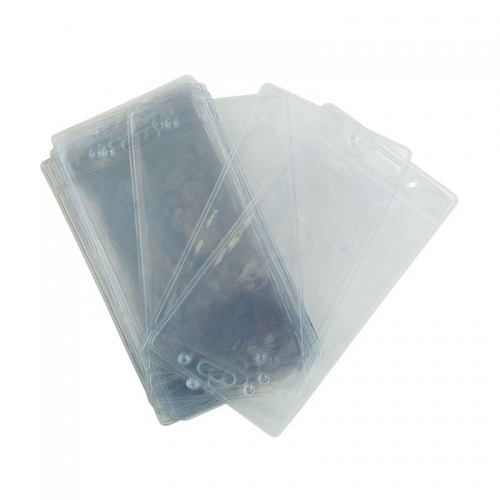 Plastic Clear Name Tag Holders For Lanyards