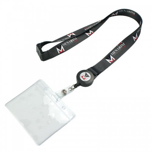 Sublimation Lanyard With Retractable Badge Holder
