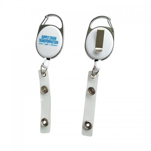 Durable Carabiner Belt Clip Badge Reel