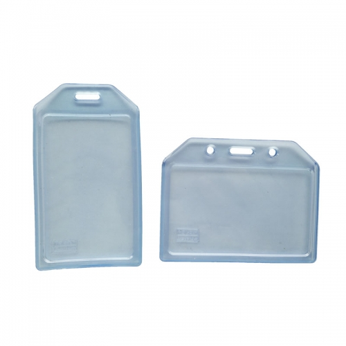 Clear Plastic ID Holder For Lanyard
