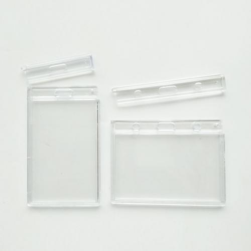 Clear Hard Plastic Badge Holder For Lanyard