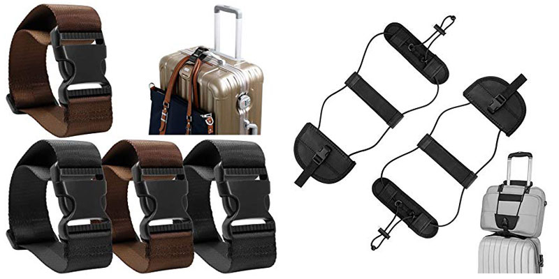how to strap luggage together