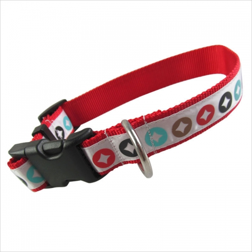 Personalized Reflective Nylon Dog Collars