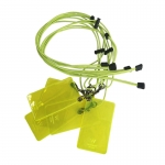 3mm Adjustable Round Elastic Latex Lanyard With Color PVC Card Holder